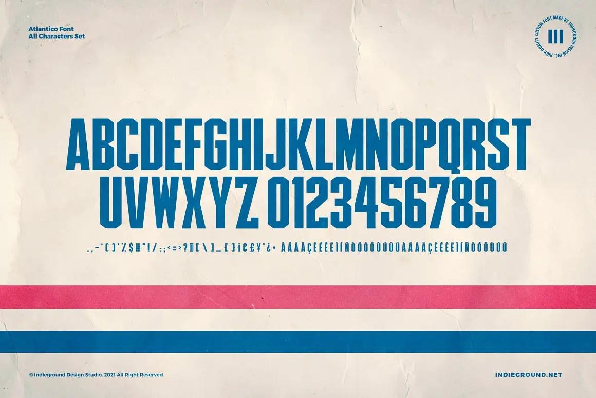 Atlantico Sans Serif Font -3