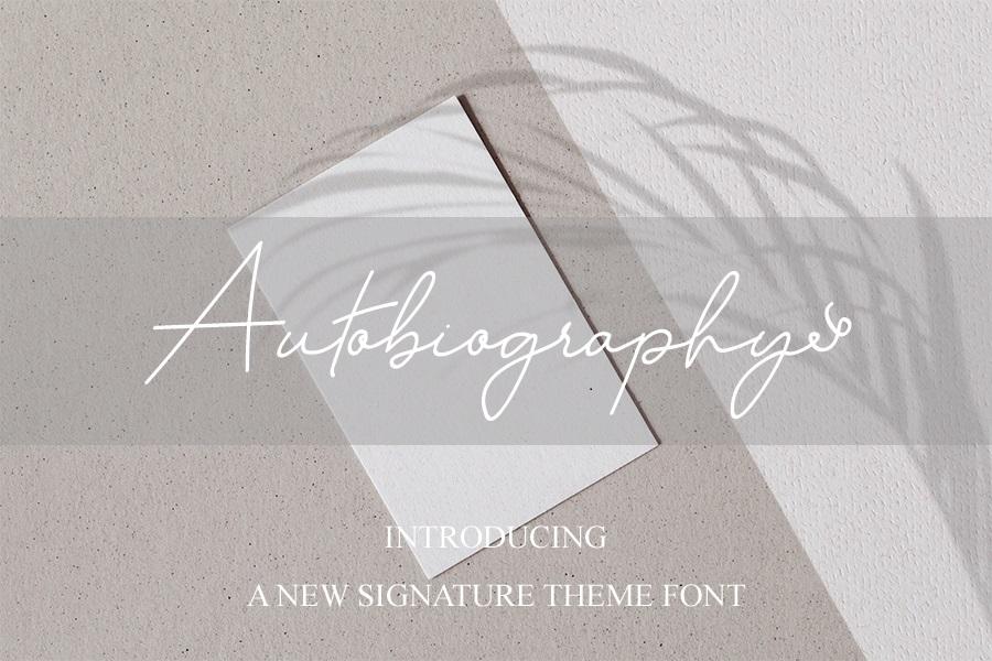 Autobiography Signature Script Font -1