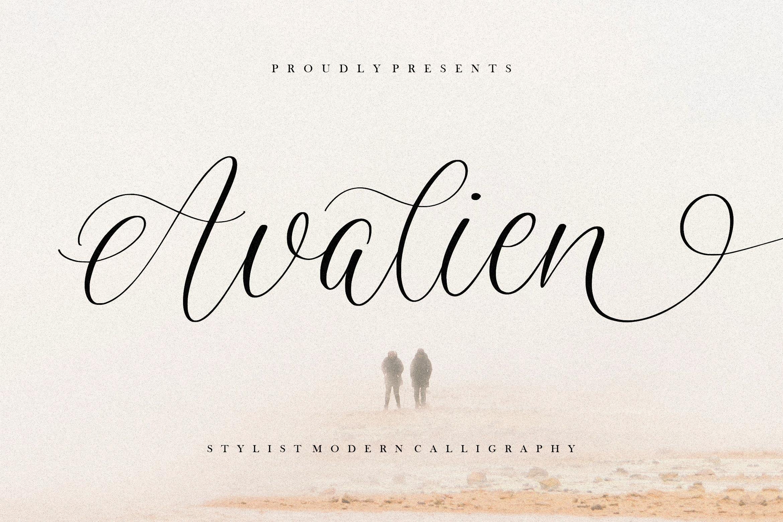 Avalien Calligraphy Script Font -1