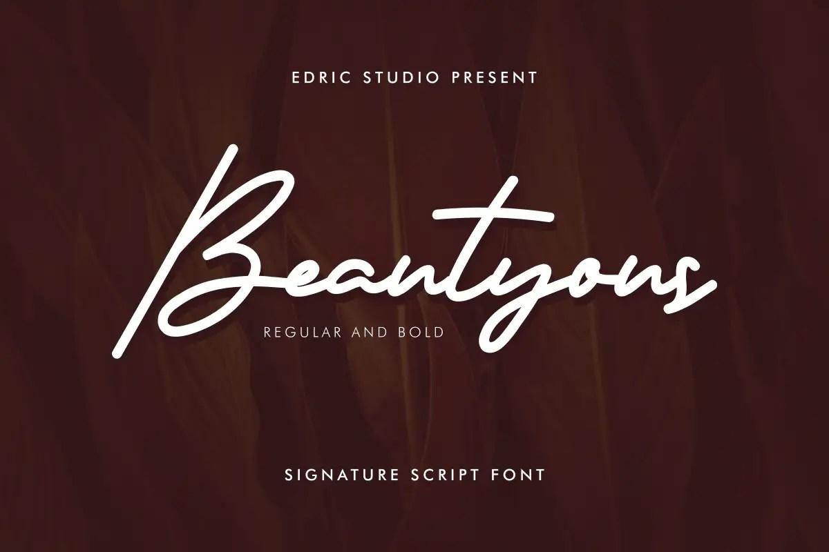 Beautyous Signature Script Font -1