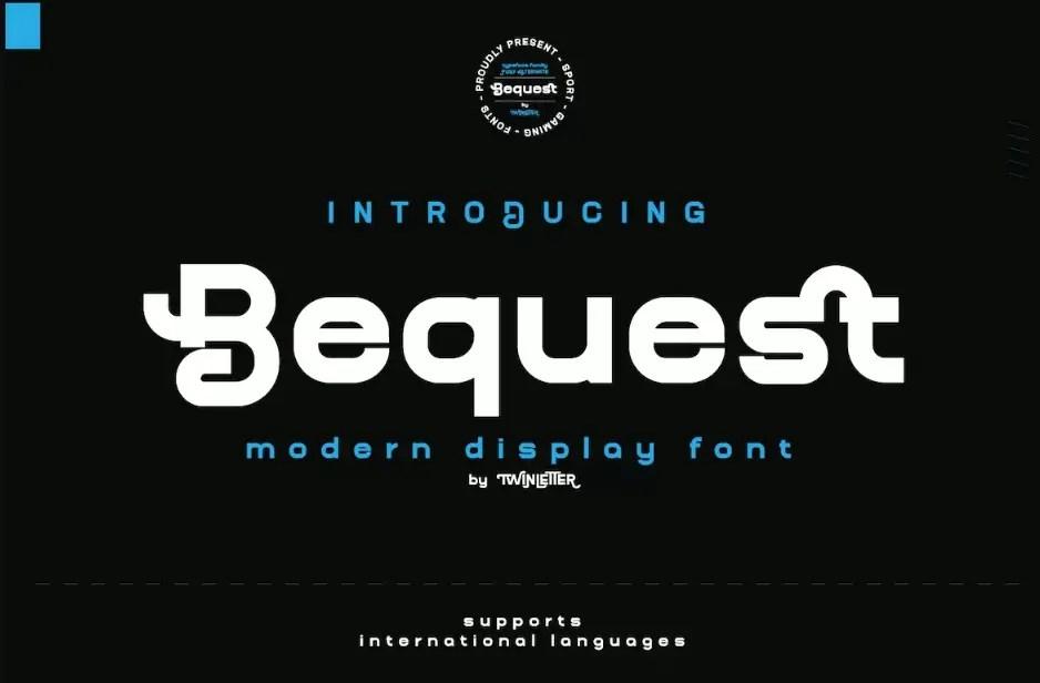 Bequest Sans Serif Font -1