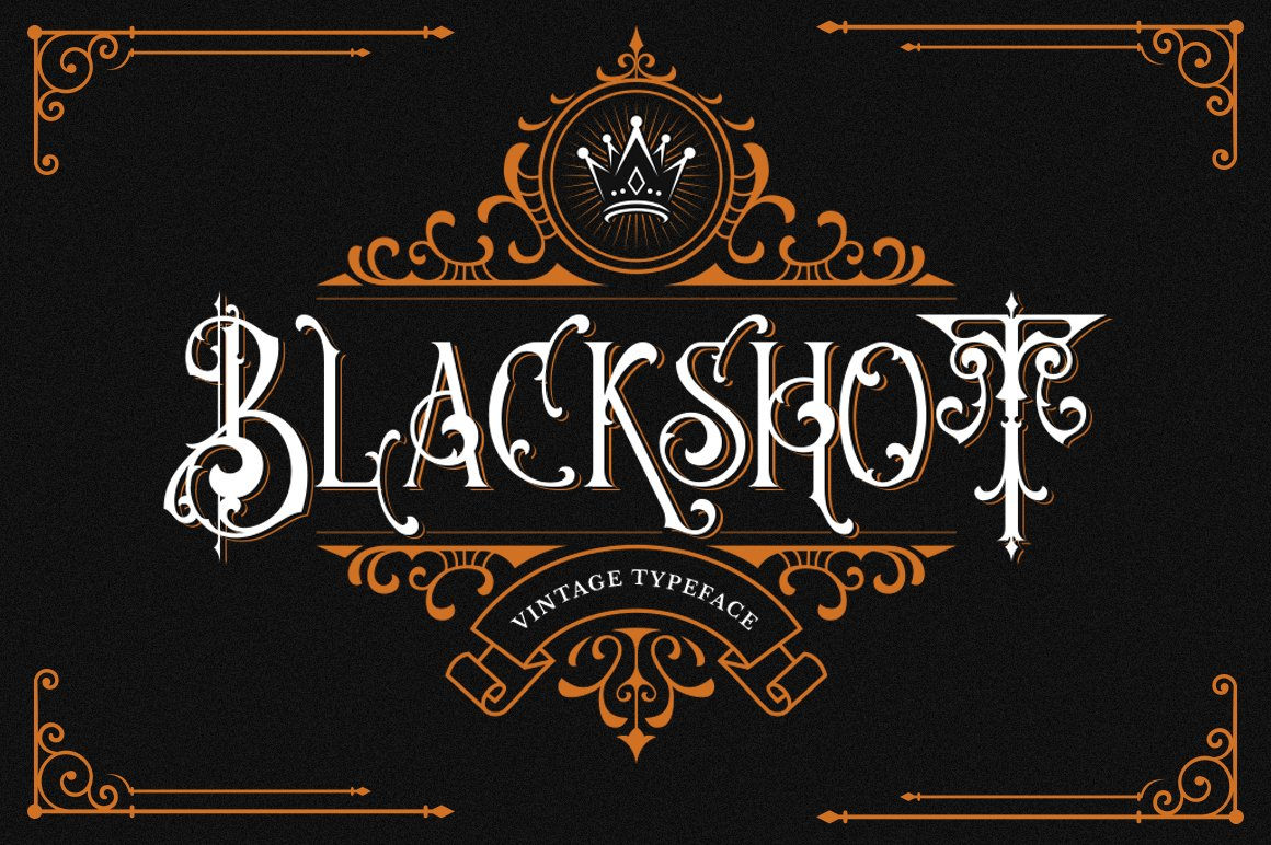 Blackshot Blackletter Font -1
