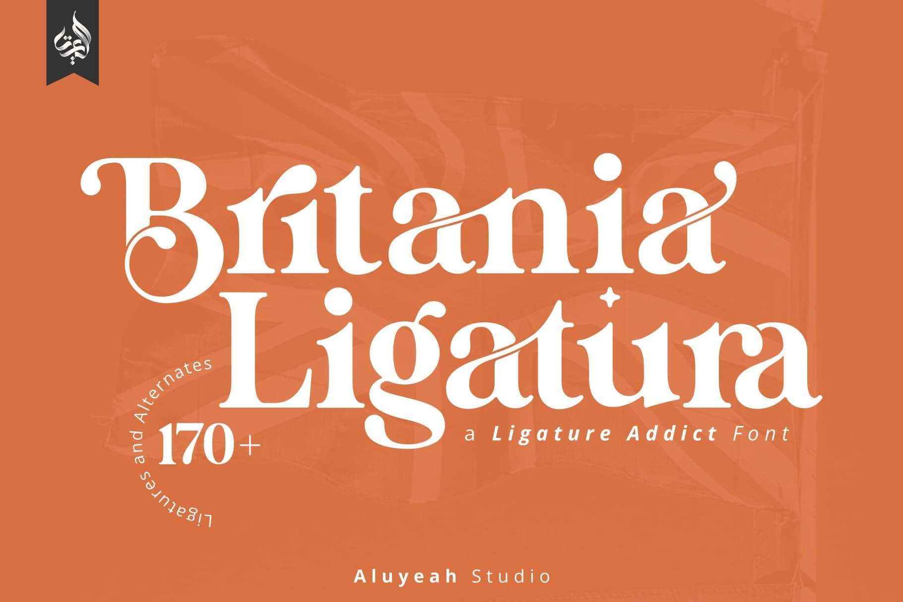 Britania Ligatura Serif Font -1
