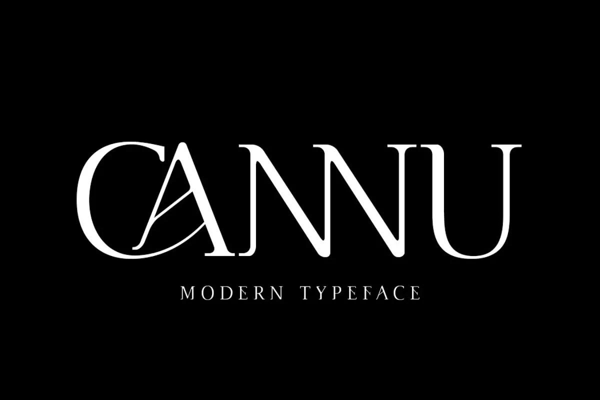 Cannu Serif Modern Typeface -1