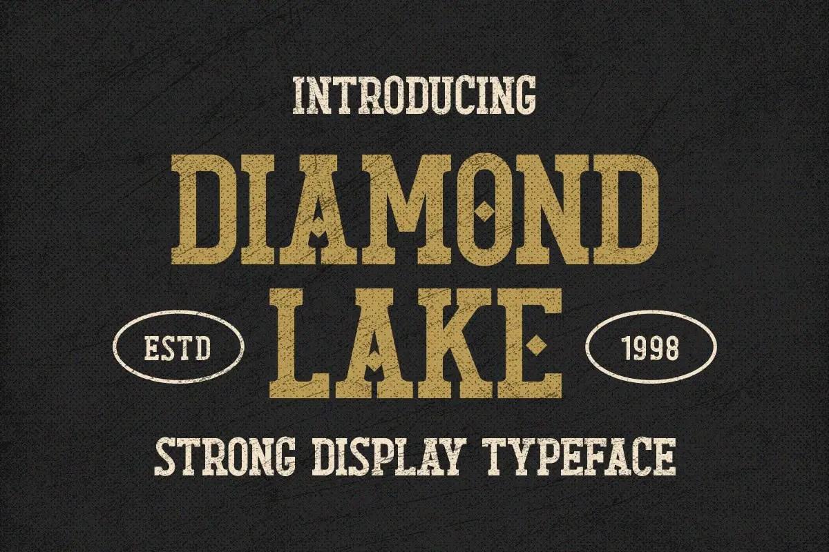 Diamond Lake Strong Display Typeface -1