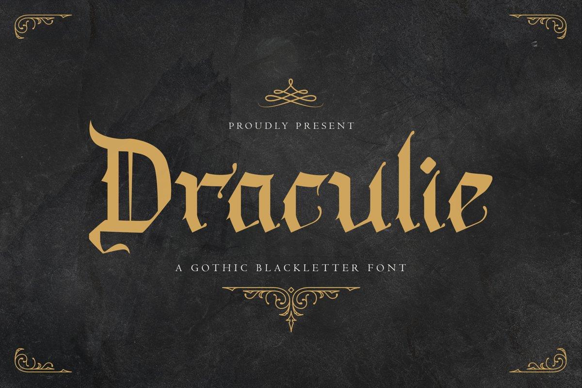 Draculie Blackletter Font -1
