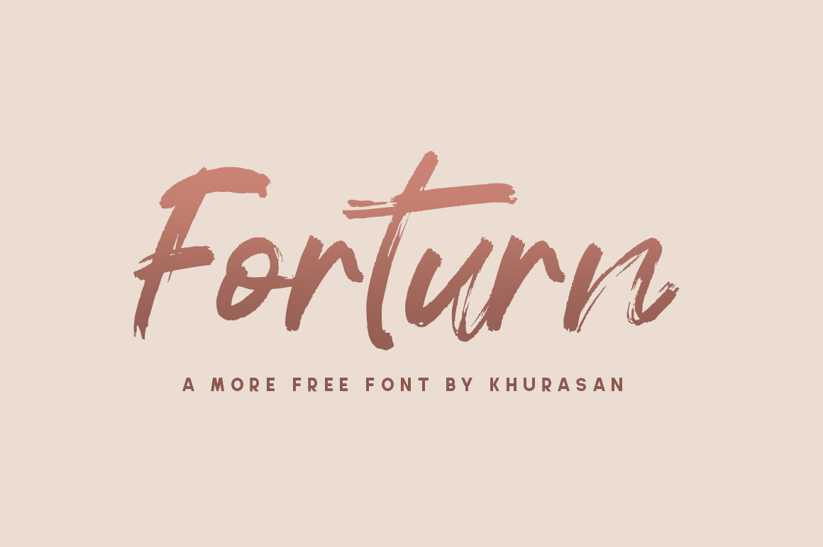 Forturn Brush Script Font -1