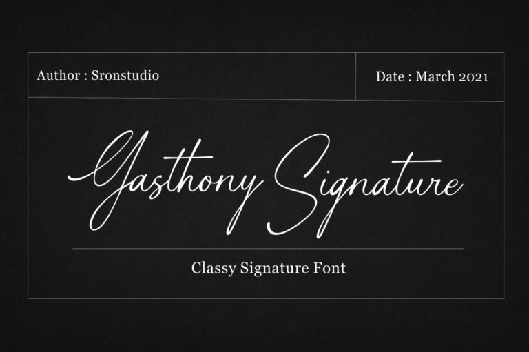 Gasthony Signature Handwritten Font -1