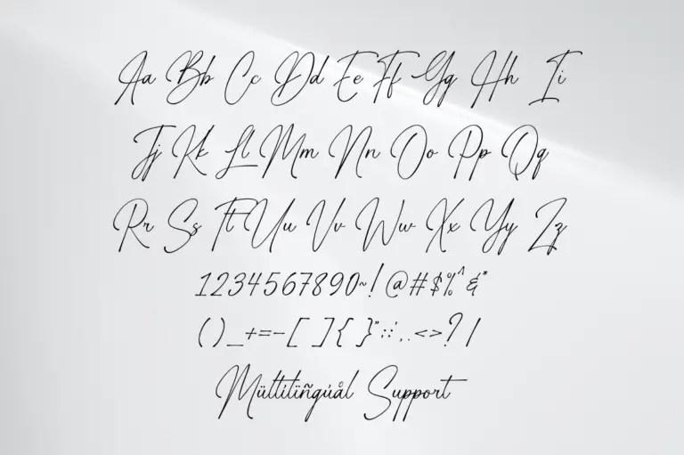 Gasthony Signature Handwritten Font -3
