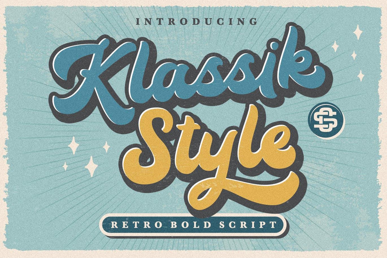 Klassik Style Retro Bold Script Font -1