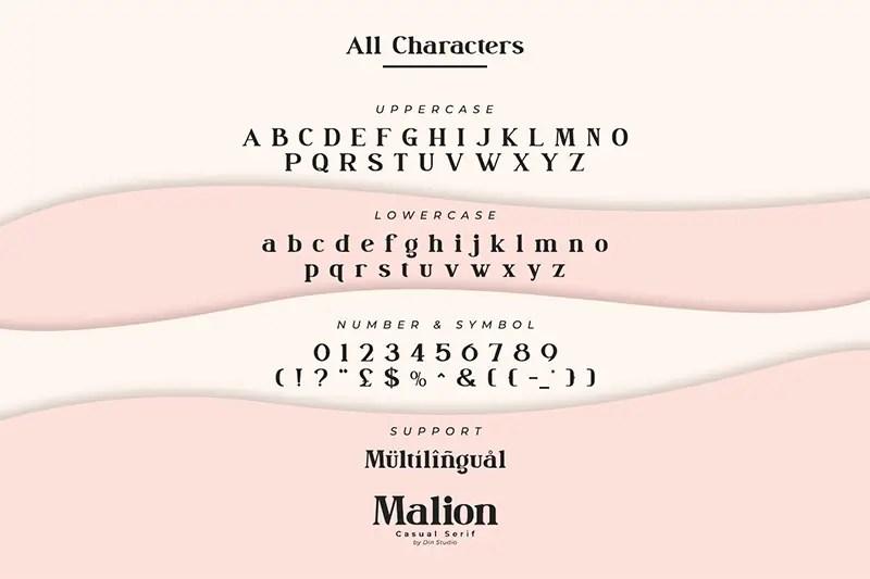 Malion Modern Serif Font -3