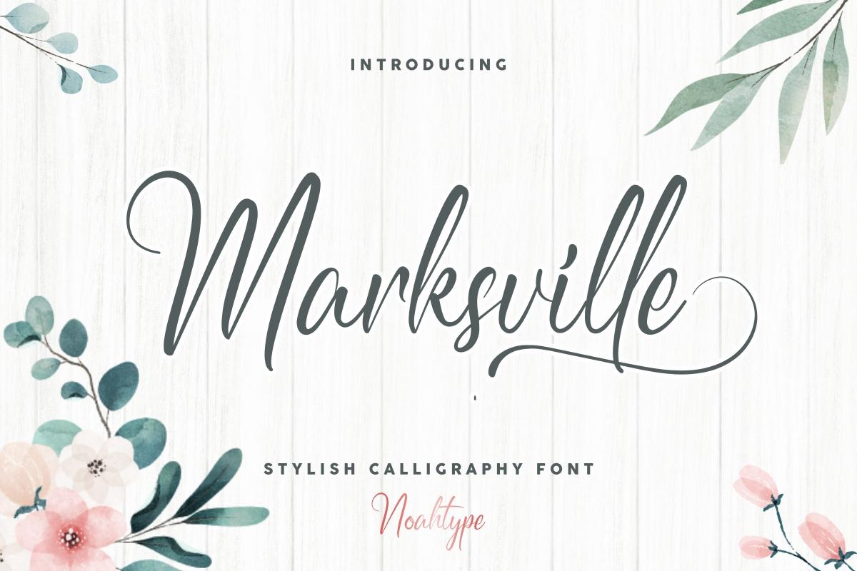 Marksville Stylish Calligraphy Font -1