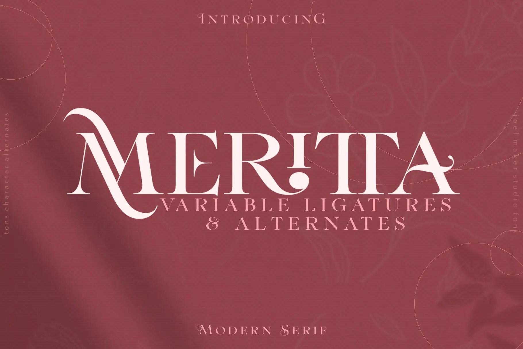 Meritta Serif Font -1