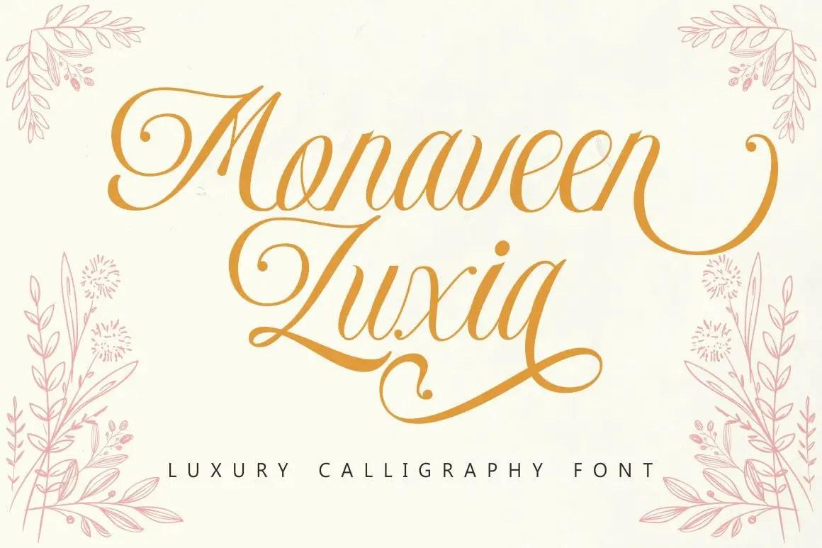 Monaveen Luxia Calligraphy Font -1