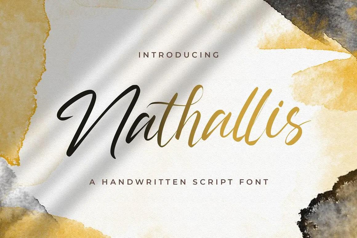 Nathallis Handwritten Script Font -1