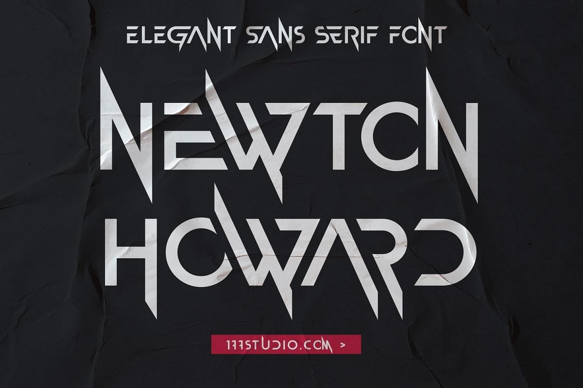 Newton Howard Sans Serif Font -1
