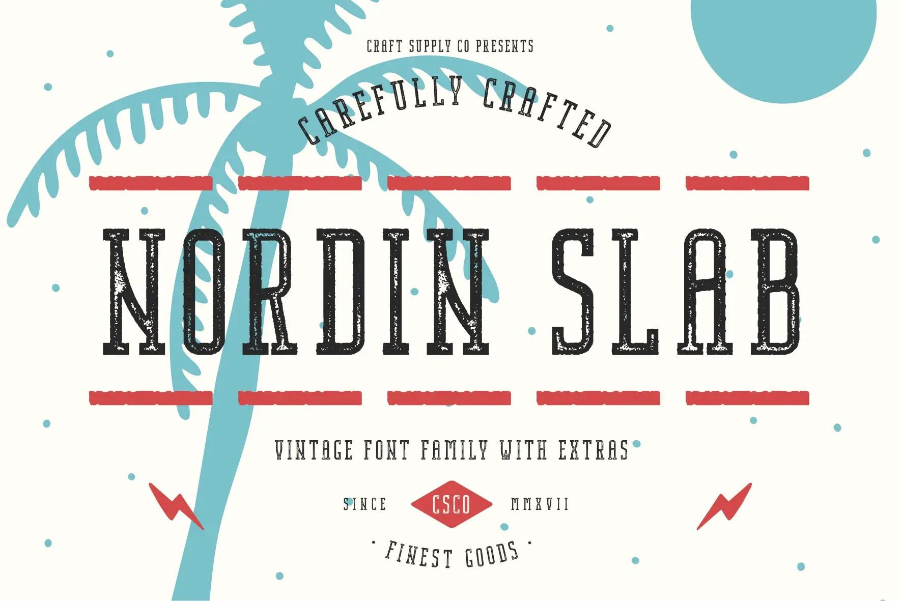 Nordin Slab Serif Font -1