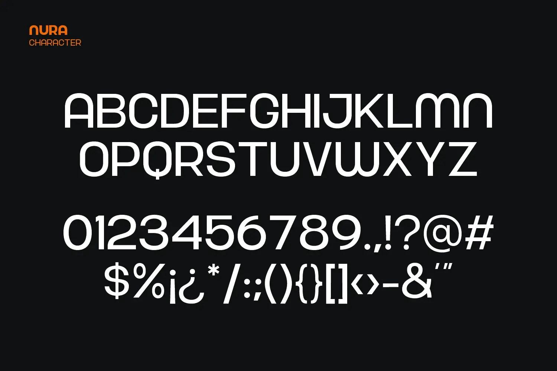 Nura Sans Serif Font -3