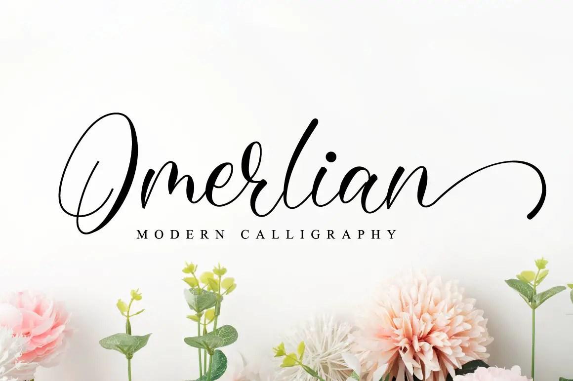 Omerlian Script Calligraphy Font -1