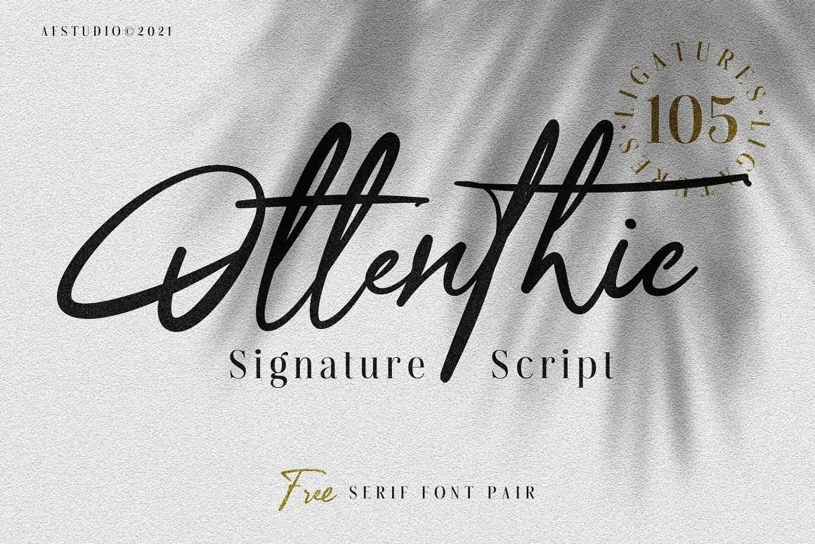 Ottenthic Signature Ligatures Font -1