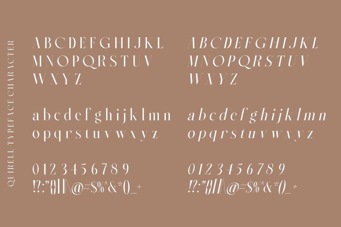 Quirell Modern Serif Font -3