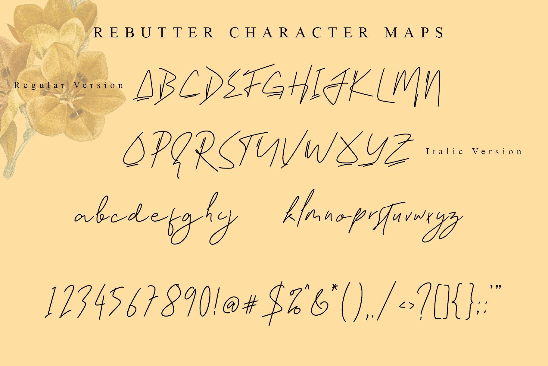 Rebutter Fashionable Handwritten Font -3