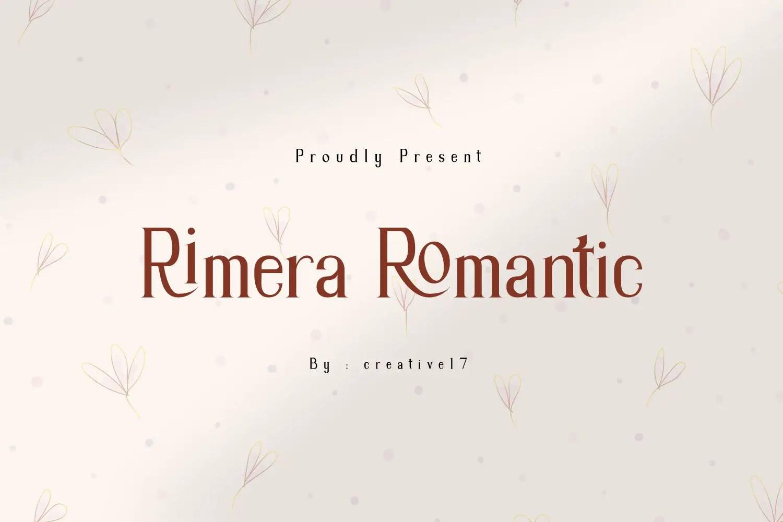 Rimera Romantic Serif Font -1