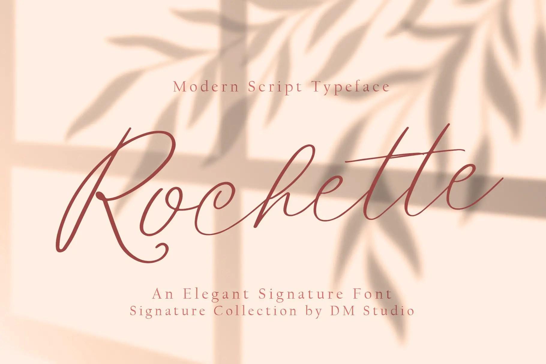Rochette Elegant Signature Font -1