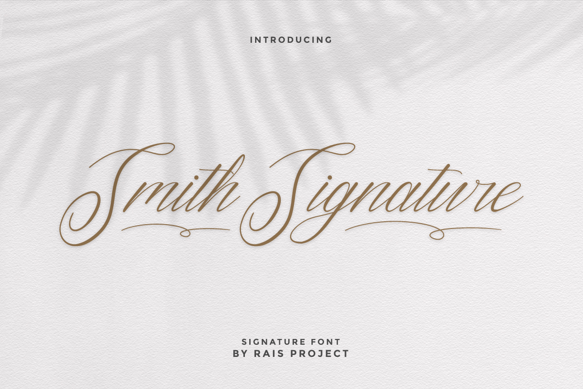 Smith Signature Calligraphy Font -1