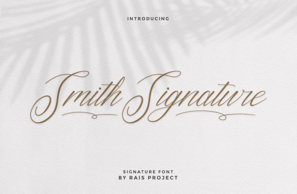 Smith Signature Font