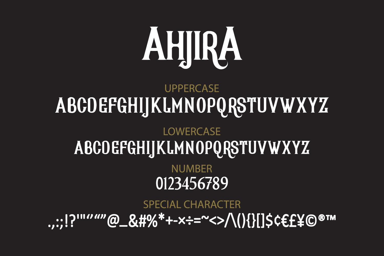 AhjiraSerif Font -3