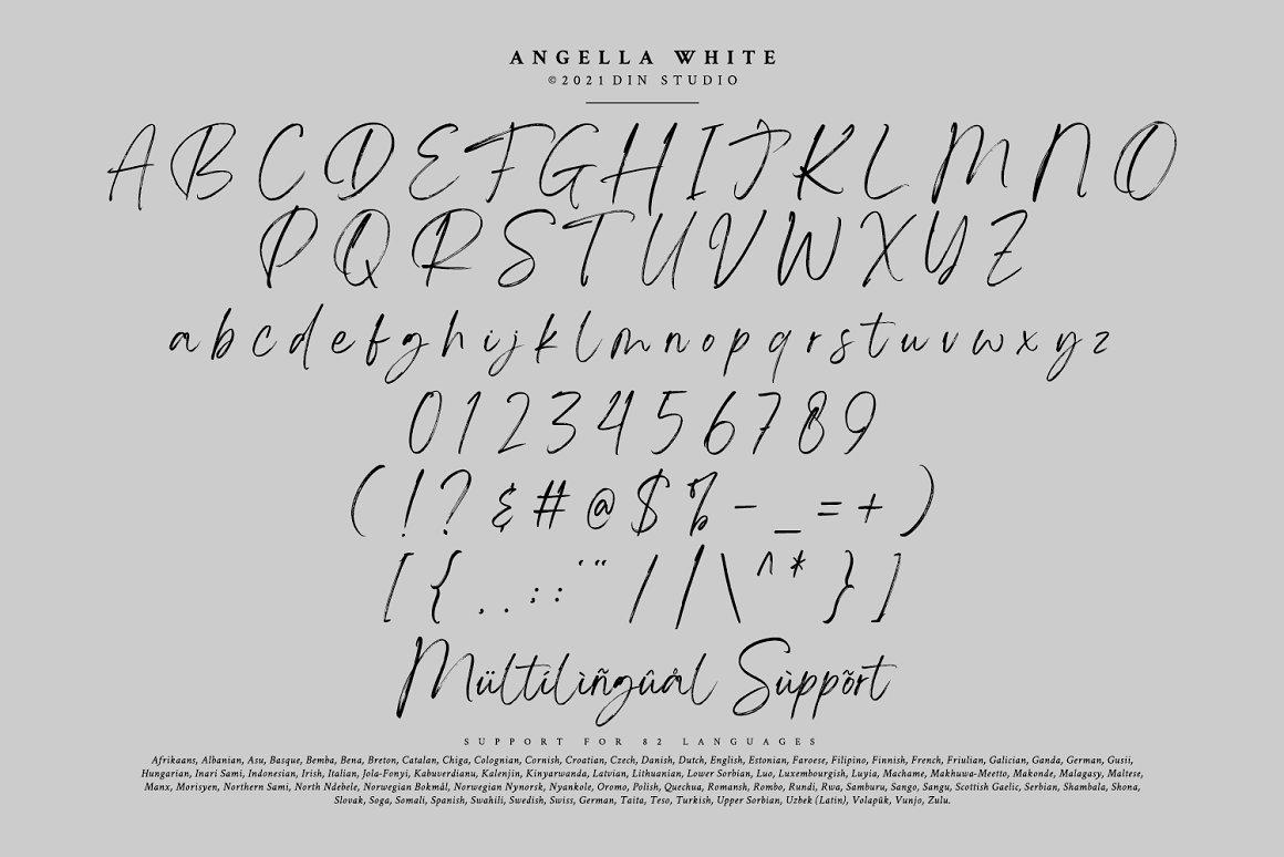 Angella White Brush Font -3