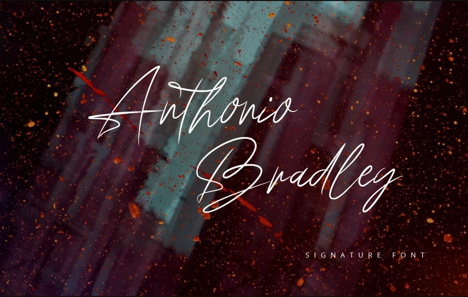 Anthonio Bradley Signature Handwritten Font -1