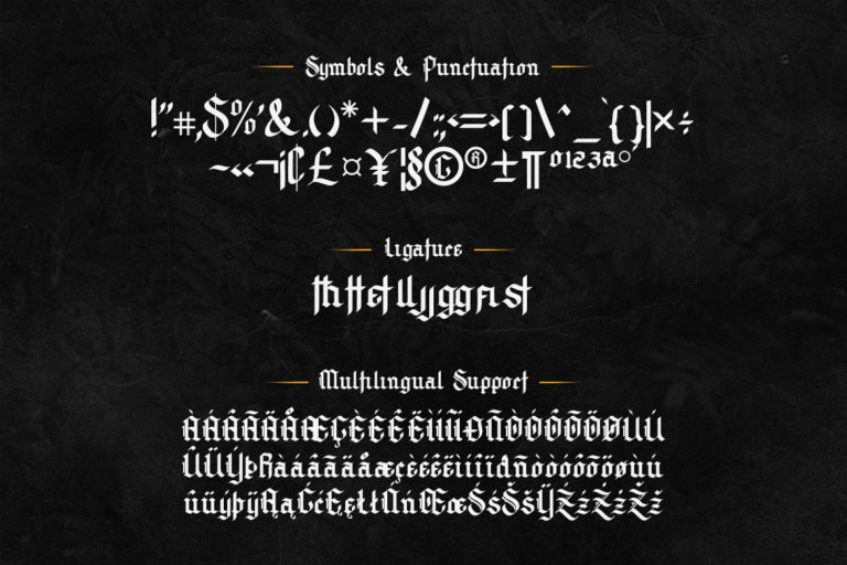 Archking Modern Blackletter Font -3