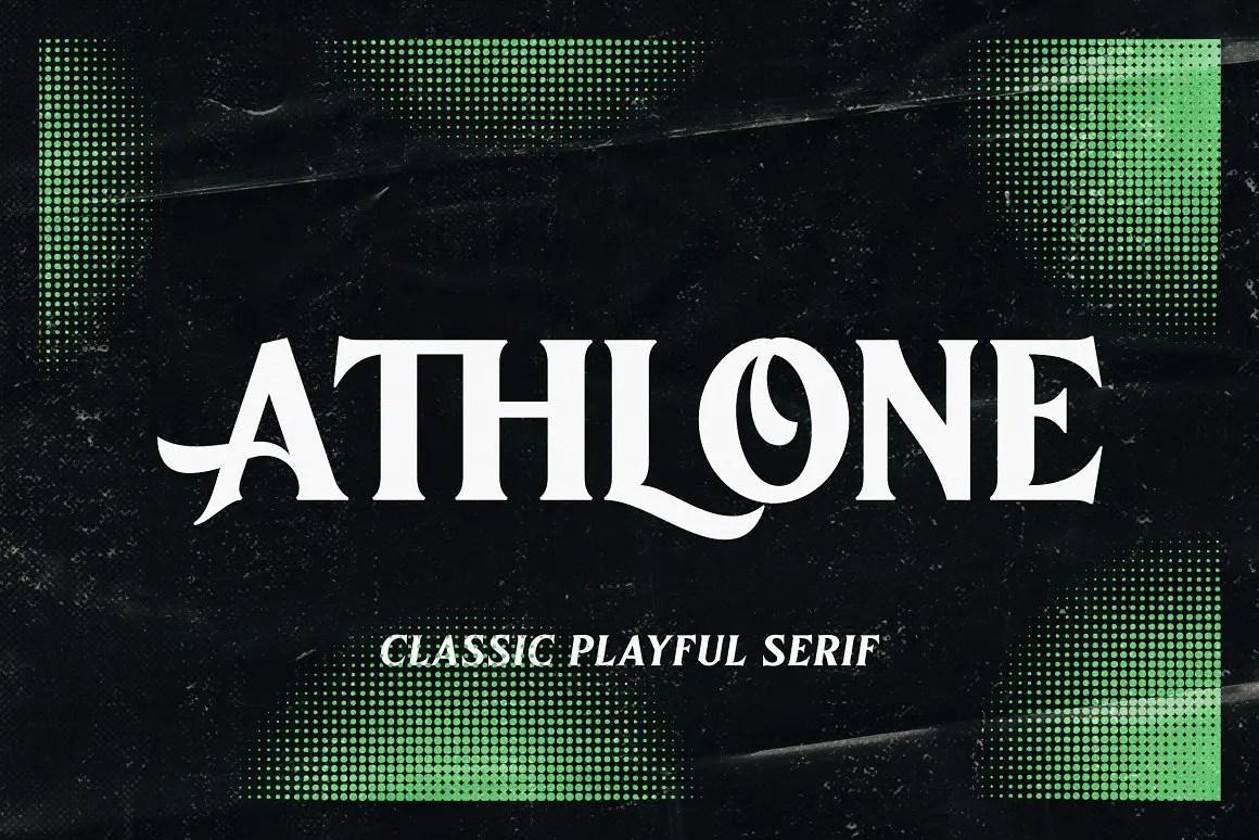 Athlone Serif Display Font -1