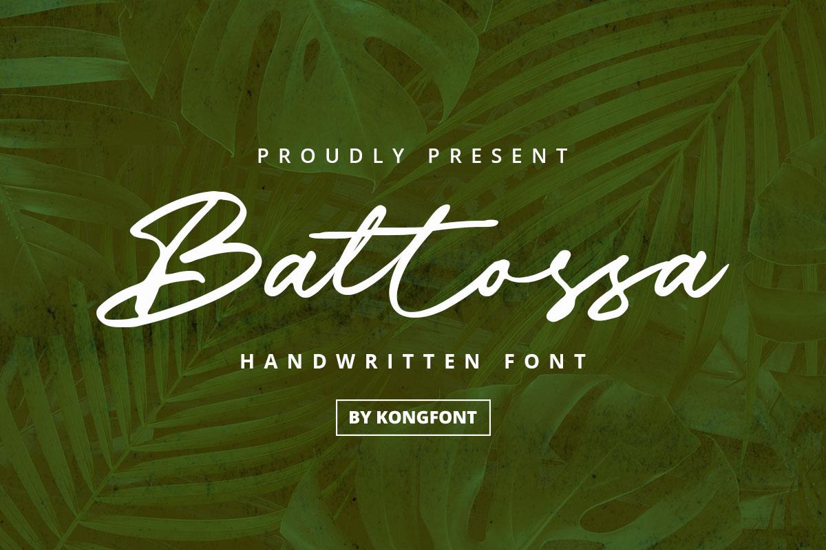 Battossa Handwritten Font -1