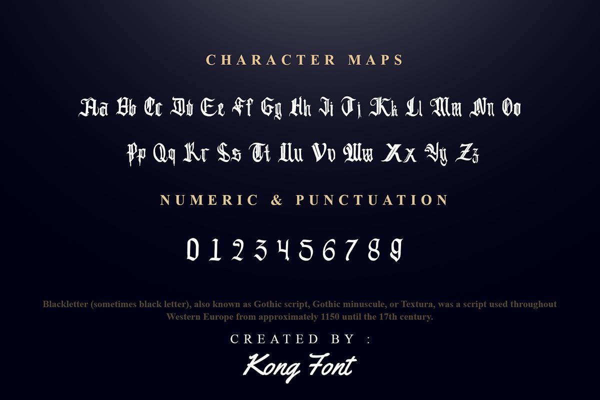 Black Shadow Old English Font -3