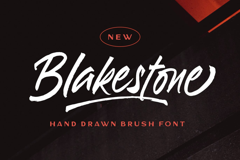 Blakestone Script Brush Font -1