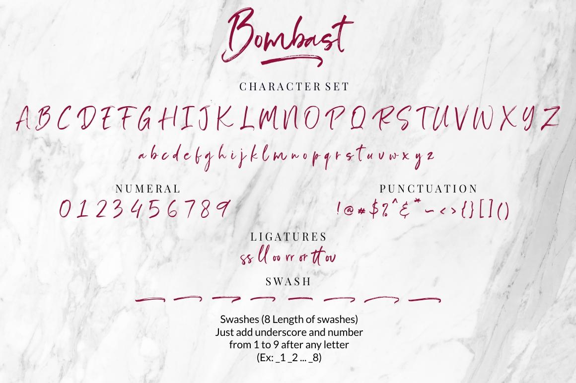 Bombast Brush Script Font -3