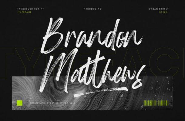 Brandon Matthews Font