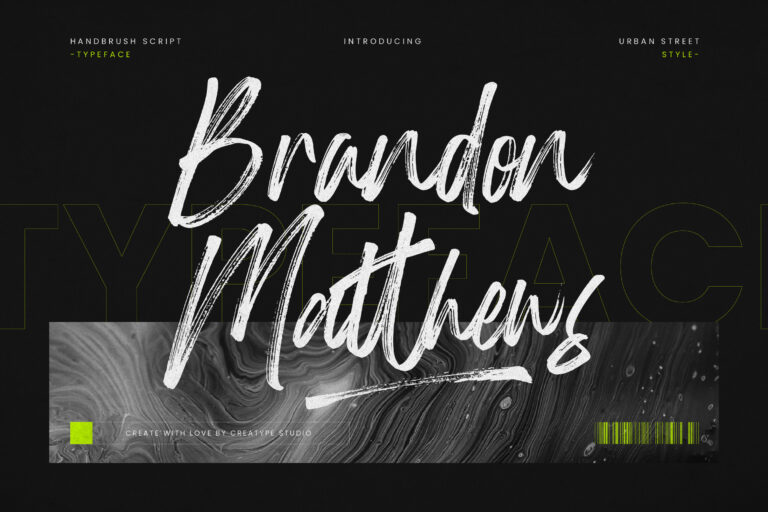 Brandon Matthews Handbrush Font -1