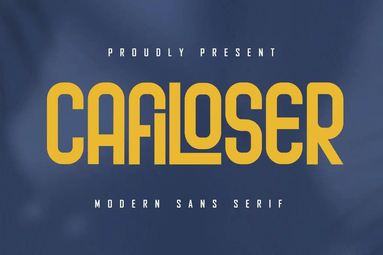 Cafiloser Modern Sans Serif Font -1