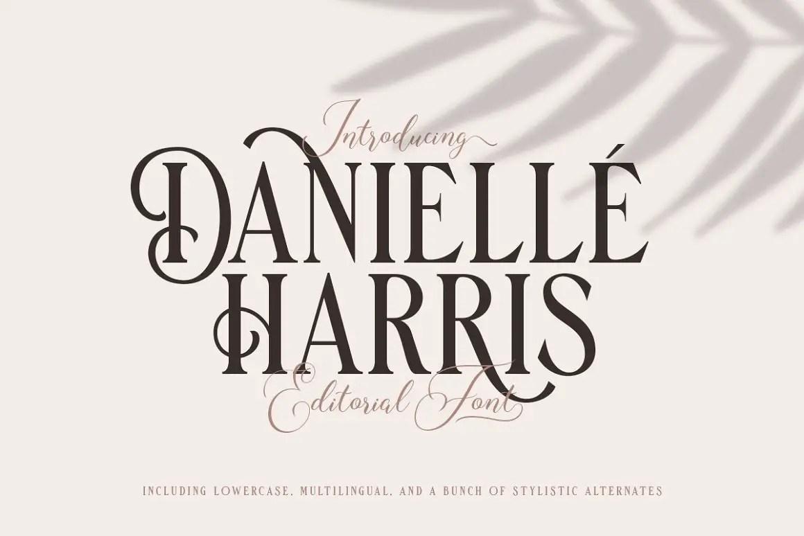 Danielle Harris Editorial Font -1