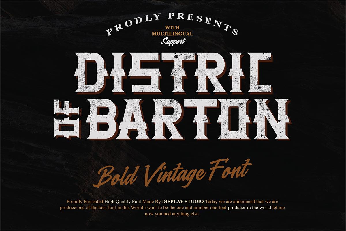 Distric of Barthon Display Font -1