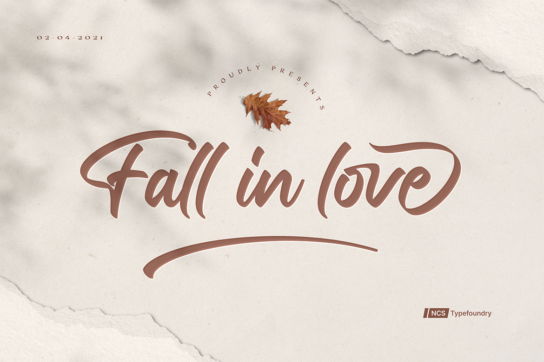 Fall in love Bold Script Font -1