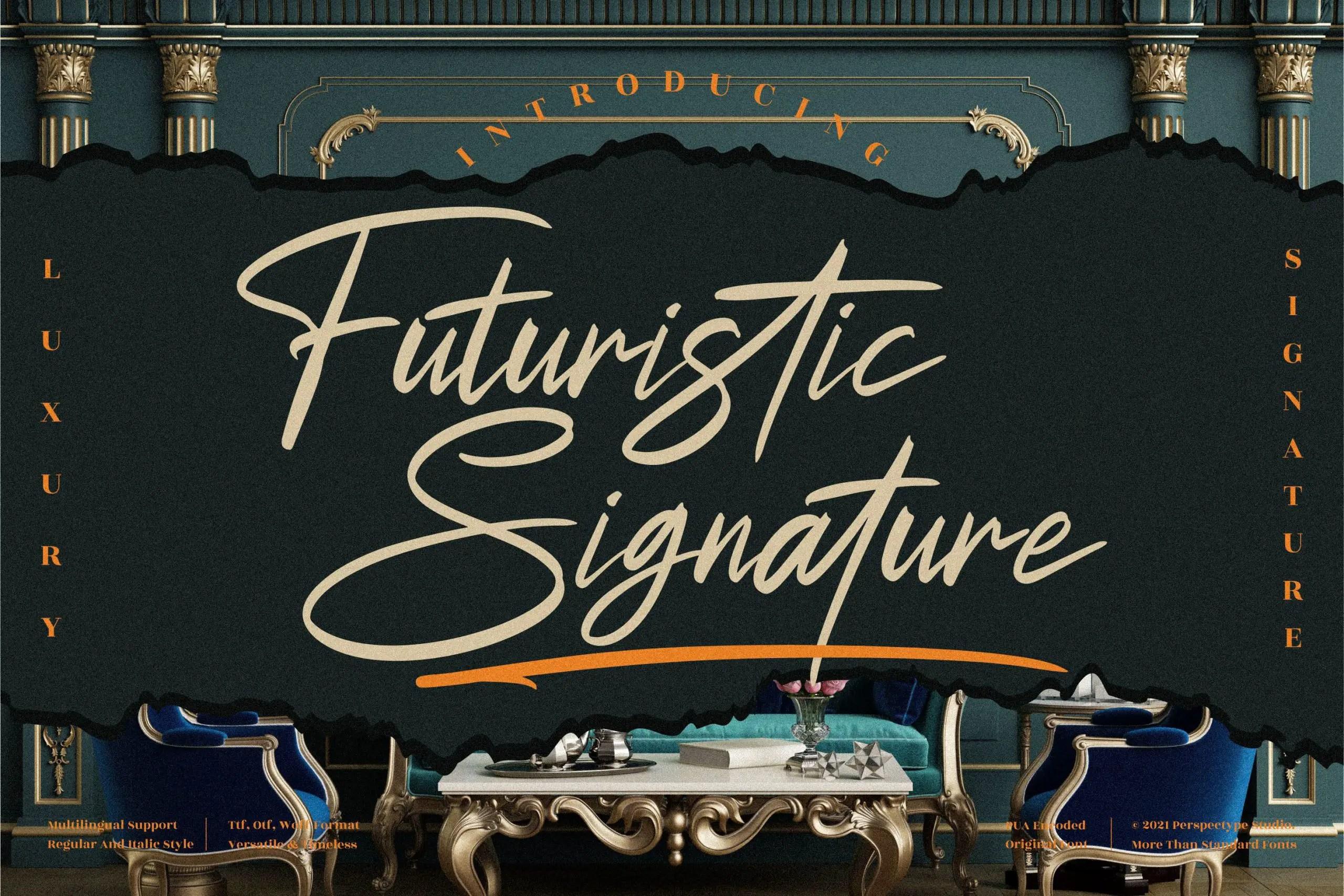 Futuristic Signature Handwritten Font -1