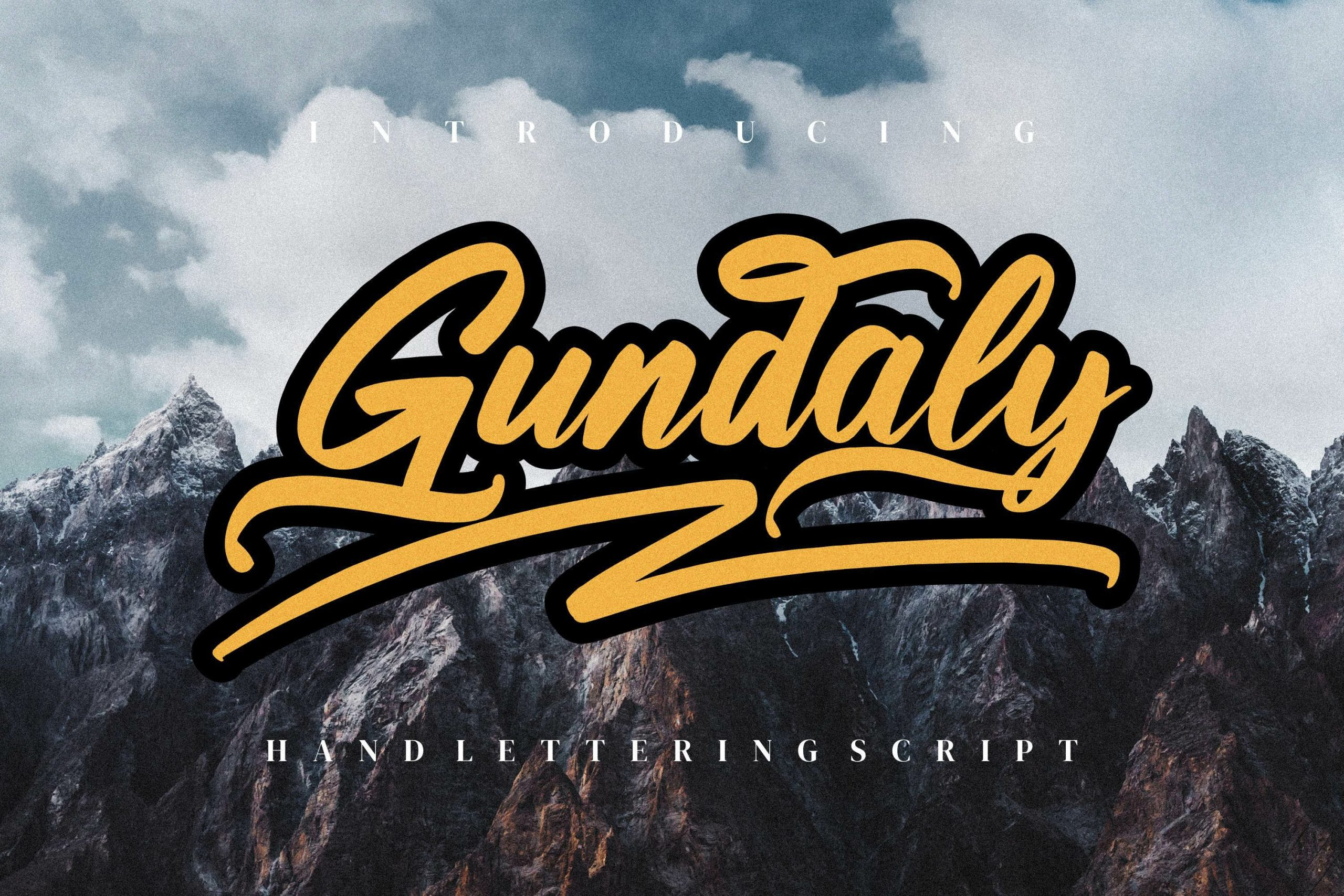 Gundaly Script Font -1