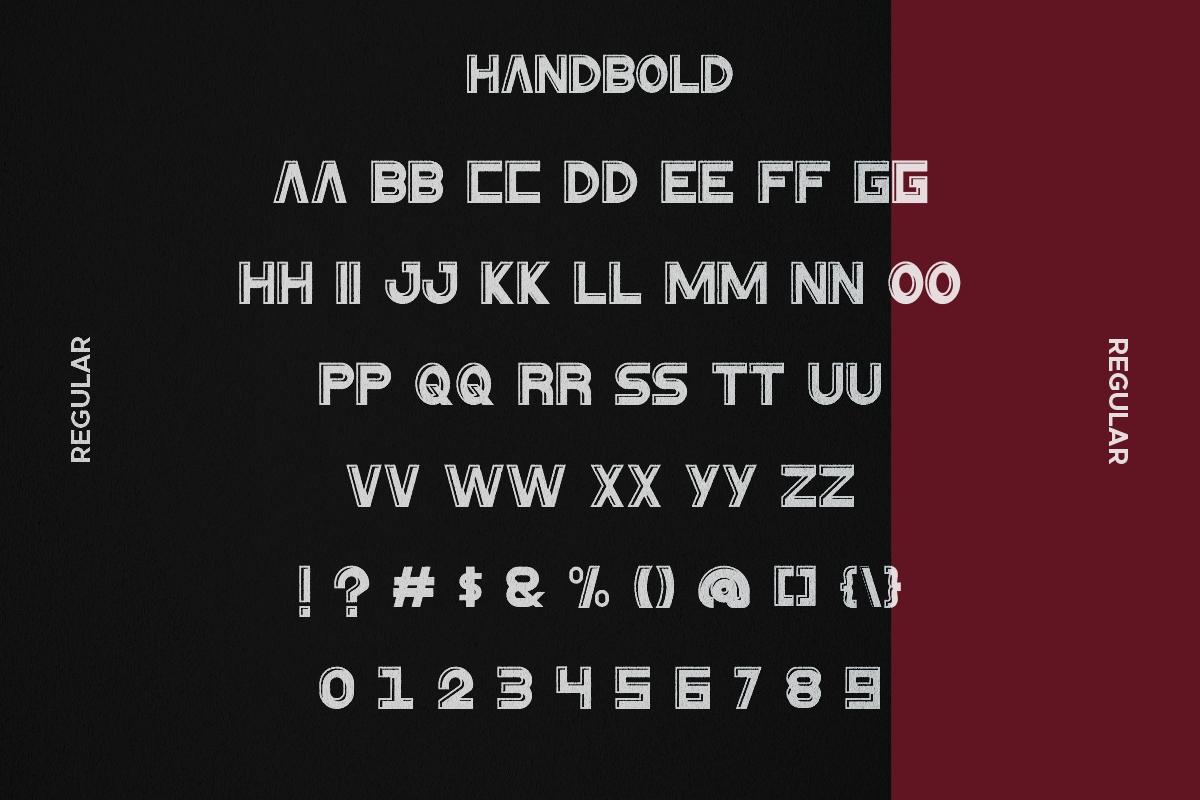 HanBold Sans Serif Font -2