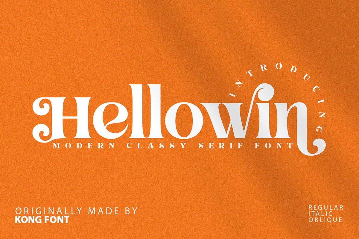 Hellowin Modern Classy Serif Font -1