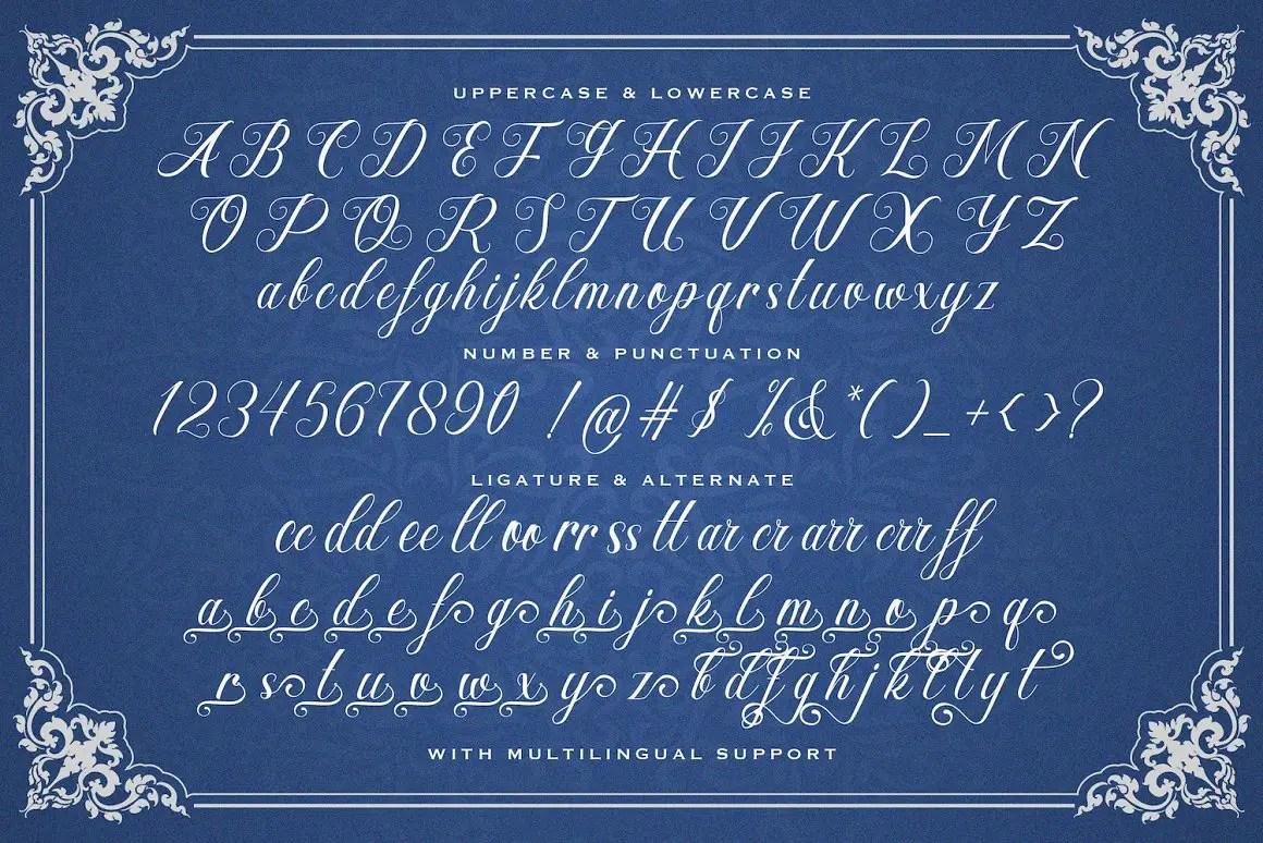 Hesty Aqaky Modern Script Font -3